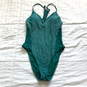 Mossimo teal mesh one piece swimsuit